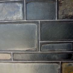 Bluestone overlap with white lines